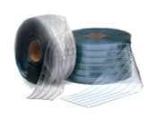 "Bulk 8"" Cooler Strip Curtain Roll - RIBBED"