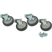 "264704, 26-4704, Plate Caster Set (4), 5"", Plate Caster Set (4), 5"" - 26-4704, Casters and Legs, Plate Mounted Caster Kits, ,"