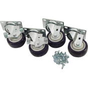 "264705, 26-4705, Plate Caster Set (4), 3"", Plate Caster Set (4), 3"" - 26-4705, Casters and Legs, Plate Mounted Caster Kits, ,"