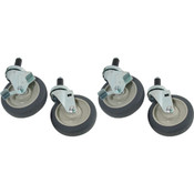 "264706, 26-4706, Stem Caster Set (4), 5"", Stem Caster Set (4), 5"" - 26-4706, Casters and Legs, Expanding Stem Caster Kits for 1"" Diameter Tubing, ,"