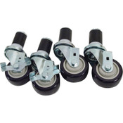 "264709, 26-4709, Stem Caster Set (4), 3"", Stem Caster Set (4), 3"" - 26-4709, Casters and Legs, Expanding Stem Caster Kits For 1 5/8"" Diameter Tubing, ,"