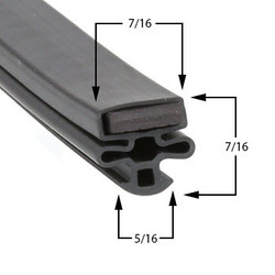 22 5/8 x 28 1/8 Gasket Compatible with True Mfg 1701342