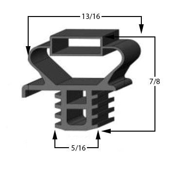 23 3 4 x 24 7 8 delfield gasket refrigeration gaskets. Black Bedroom Furniture Sets. Home Design Ideas