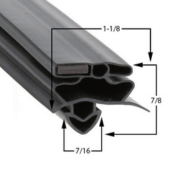 25 3/4 x 54 5/8 Gasket Compatible with True Mfg 811135