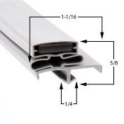 24 1/2 X 62 1/2 Glenco Gasket - Profile 165