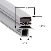 11-1/2-x-23-1/2-Traulsen-Gasket-Profile-166-341-39392-00-60-407-RFC232W-1