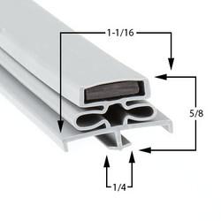 23 1/2 x 29 1/2 Traulsen Gasket - Profile 166