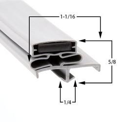 38 1/2 x 79 - 3 Sided Kolpak Gasket - LH