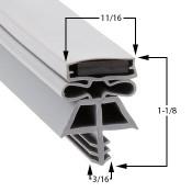 38 1/2 x 78- 3 Sided Kolpak Gasket - RH