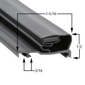 25 1/4 x 61 1/4   Schott Gemtron Gasket
