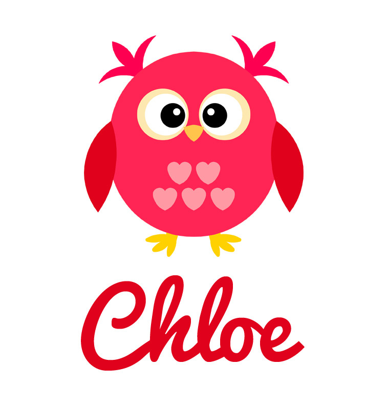 Girl S Name Pink Amp Red Love Owl Baby Bib Personalised