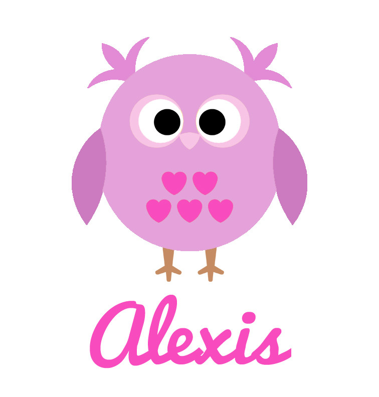Girl S Name Purple Owl Baby Bib Personalised Products