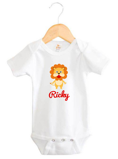 Baby Name Lion Onesie Personalised Products Word On