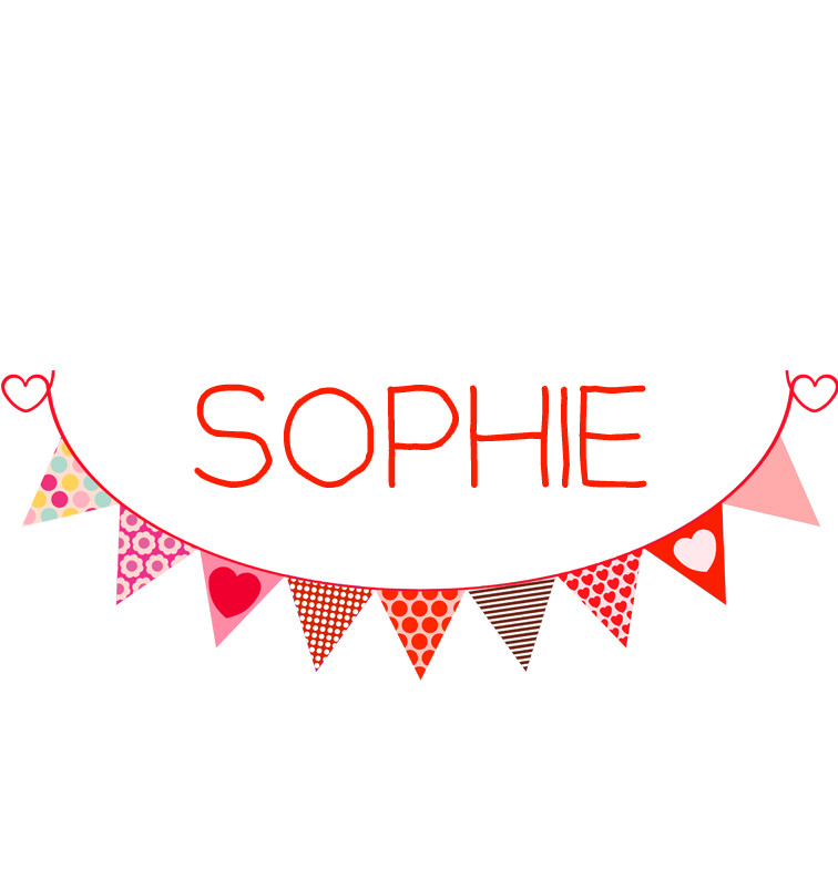 Red Bunting Baby Name Onesie Personalised Products Word On