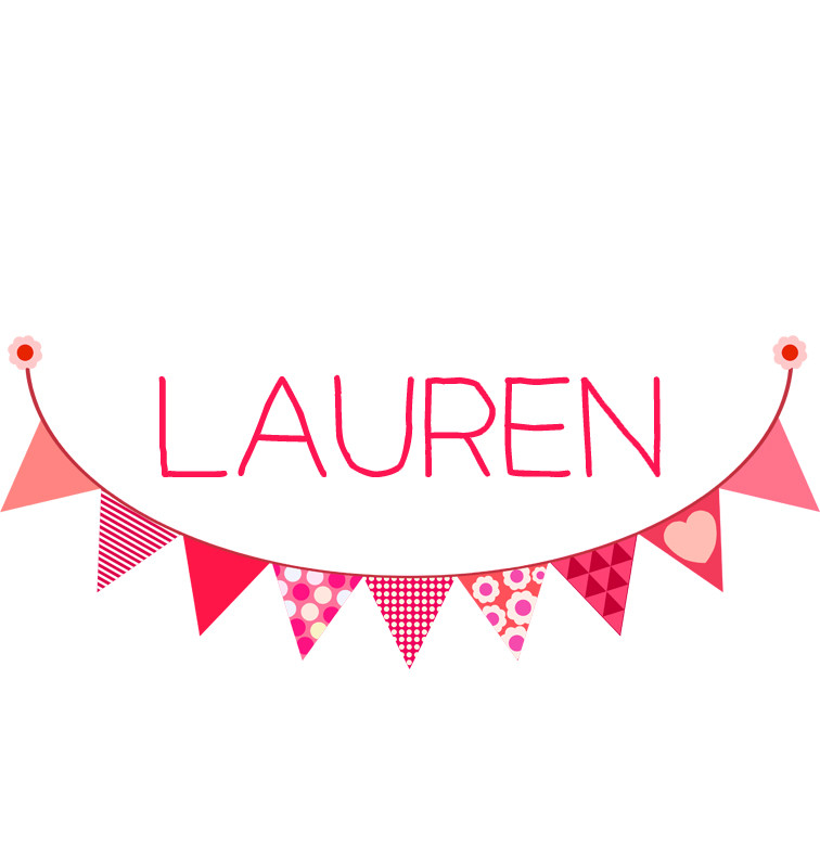 Pink Bunting Baby Name Onesie Personalised Products