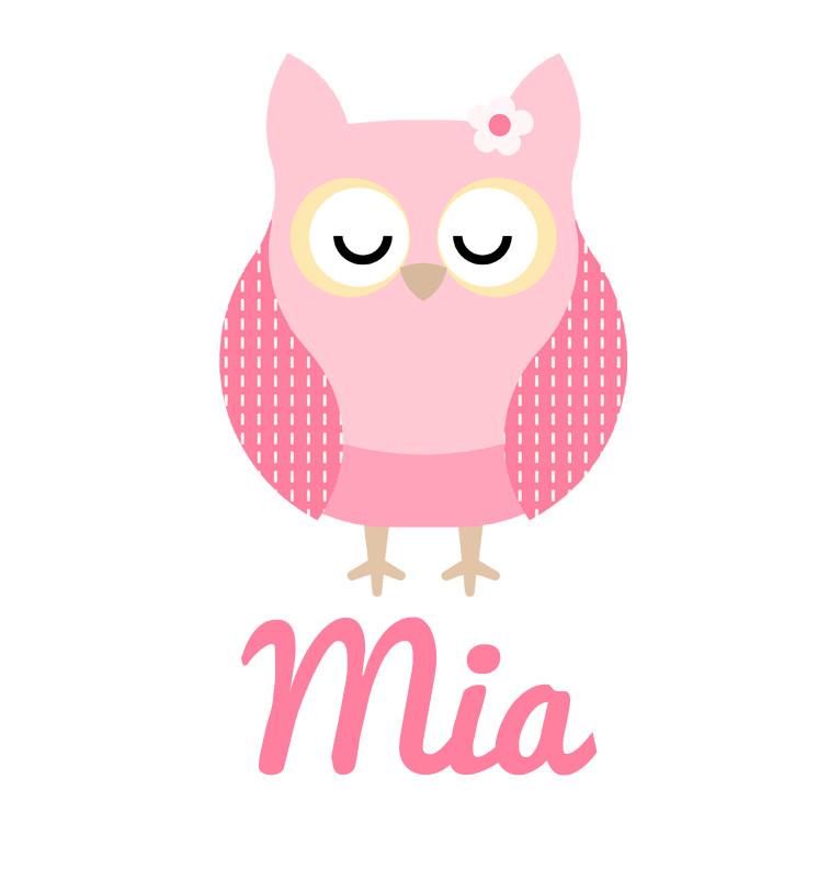 Girl S Name Pink Sleeping Owl Baby Onesie Personalised