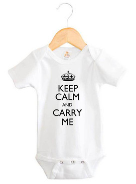Keep Calm and Carry Me Baby Onesie