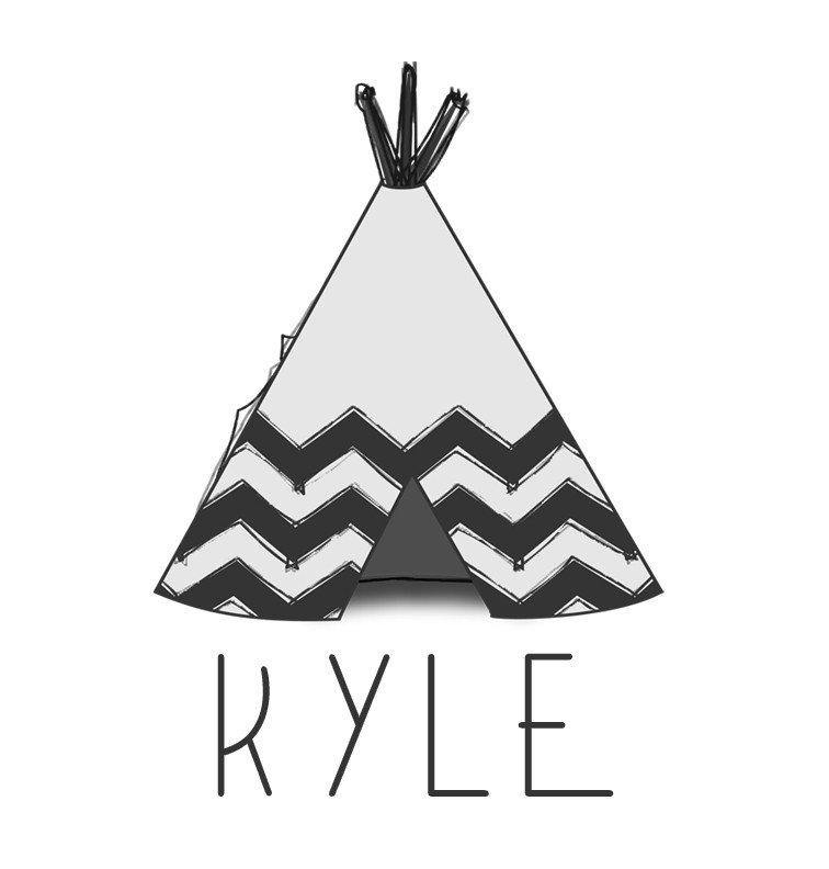 Teepee Baby Name Tee - Kyle