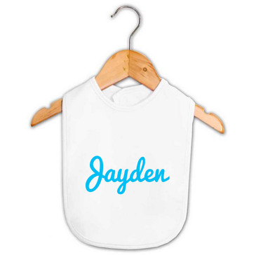 Personalised Baby Gift - Name Bib - Jayden