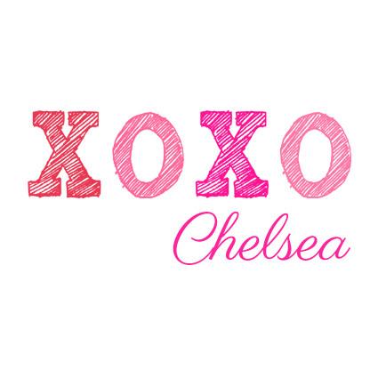 Xoxo Kiss Hug Baby Girl Name Onesie Personalized Baby