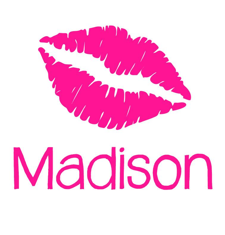 Pink Lips Baby Girl Name Onesie Personalised Baby