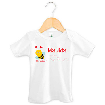 Bee Mine Personalised Baby Name Tee