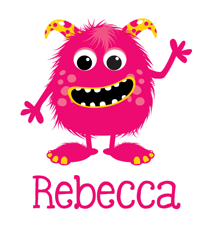 Pink Amp Yellow Monster Baby Name Onesie Personalised