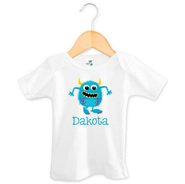 Blue Monster Baby Name Tee