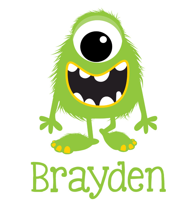 Green Monster Baby Name Bib Personalised Products Word