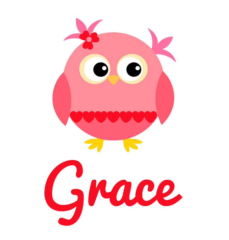 Pink Amp Red Heart Owl Baby Name Tee Personalised Products