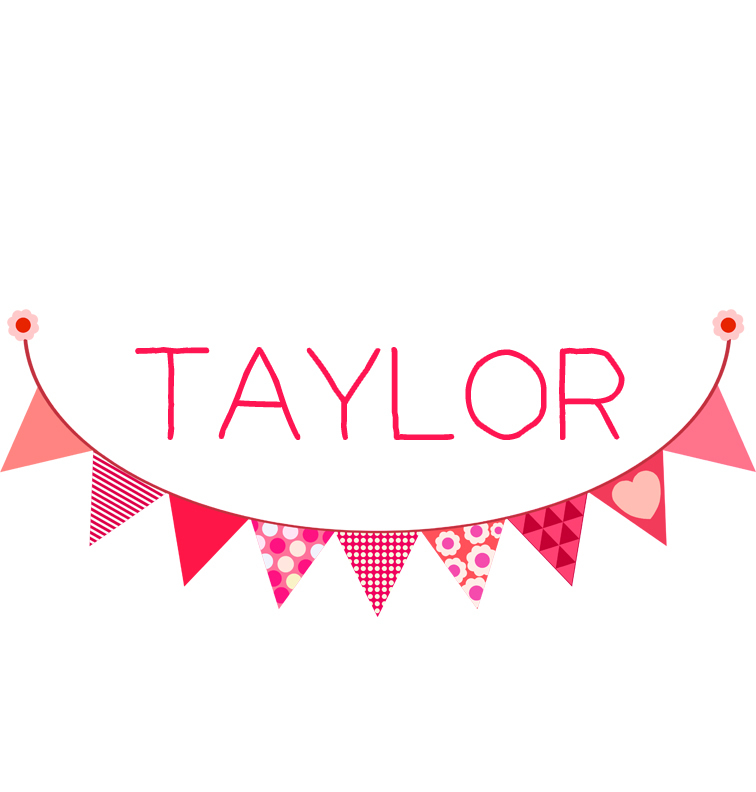 Pink Bunting Baby Name Tee Personalised Baby Products