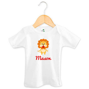 Personalised Baby Name Lion Tee