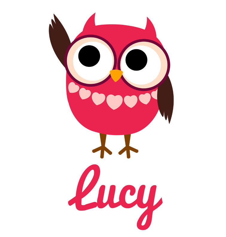 Girl S Name Raspberry Pink Owl Baby Top Personalised