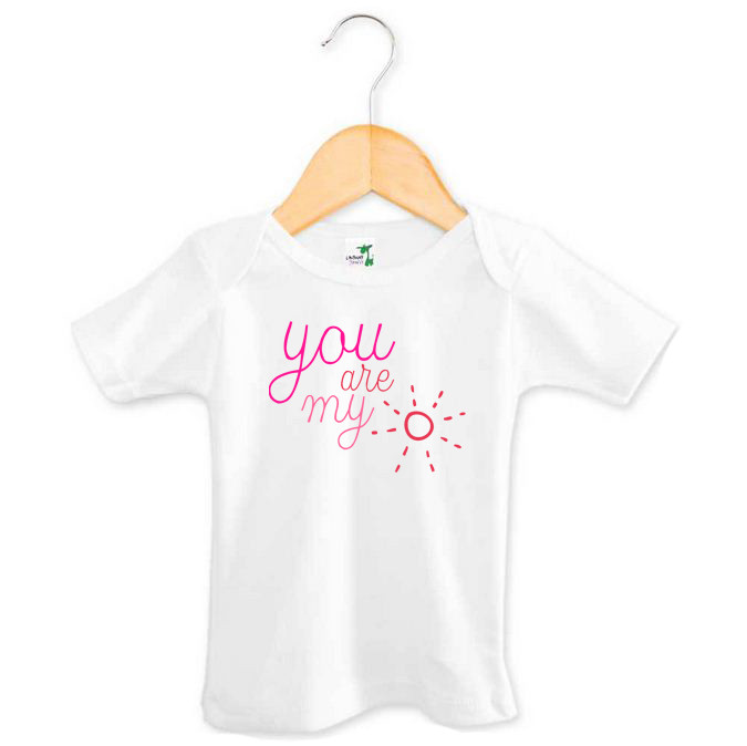 73ee05d43e5e You Are My Sunshine Baby Girl Top | Custom Made Baby Gifts | Word On ...
