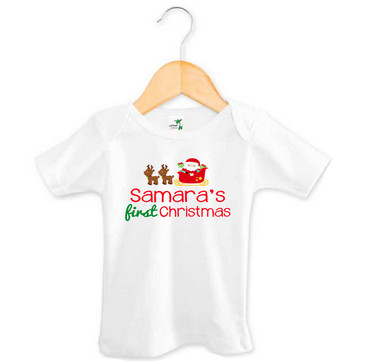Personalised My First Christmas Tee
