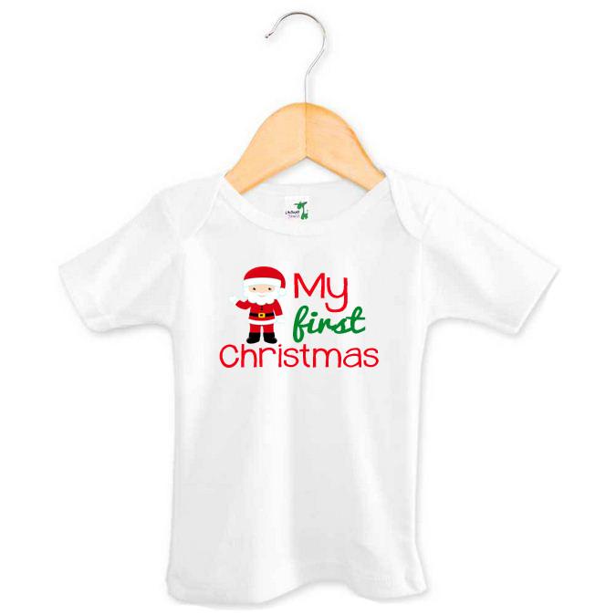My First Christmas Santa T-shirt   Custom Made Baby ...