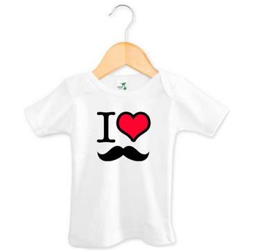 I Heart Moustache Baby Tee