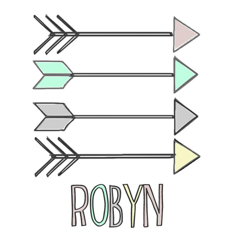 Pastel Aztec Arrows Baby Name Onesie - Robyn