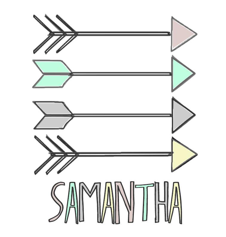 Pastel Aztec Arrows Baby Name Onesie - Samantha