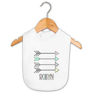Personalised Baby Products - Unisex Baby Name Bib - Robyn