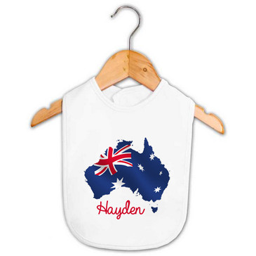 Personalised Australia Flag Bib