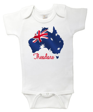 Personalised Australia Day onesie