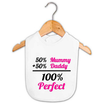 Baby Girl 100% Perfect Bib