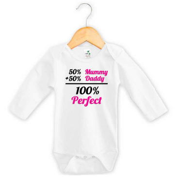 Baby Girl 100% Perfect Long Sleeve Onesie