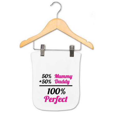 Baby Girl 100% Perfect Burp Cloth
