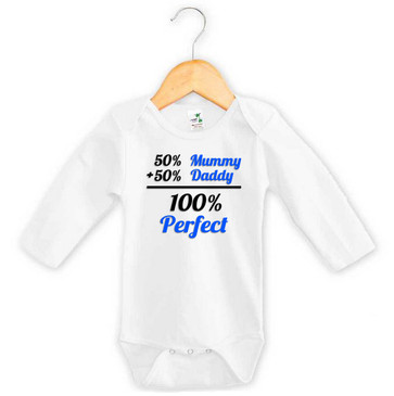Baby Boy 100% Perfect Long Sleeve Onesie