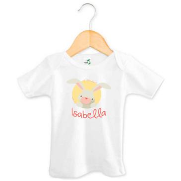 Personalised Coral Bunny T-shirt - Isabella