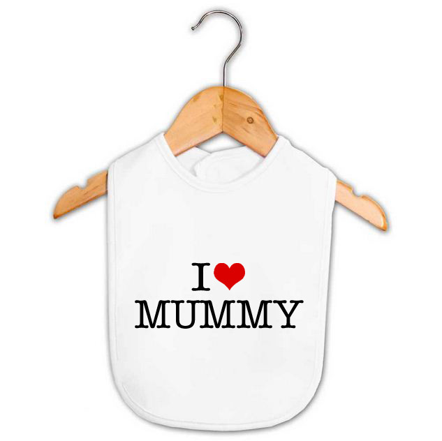 I Heart Mummy Bib Personalised Baby Gifts Word On Baby