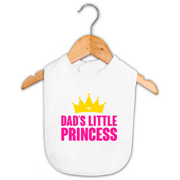 Dad's Little Princess Baby Bib
