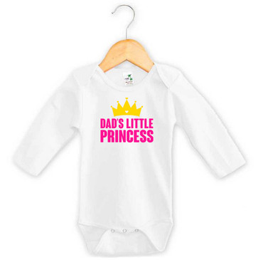 Dad's Little Princess Long Sleeve Onesie